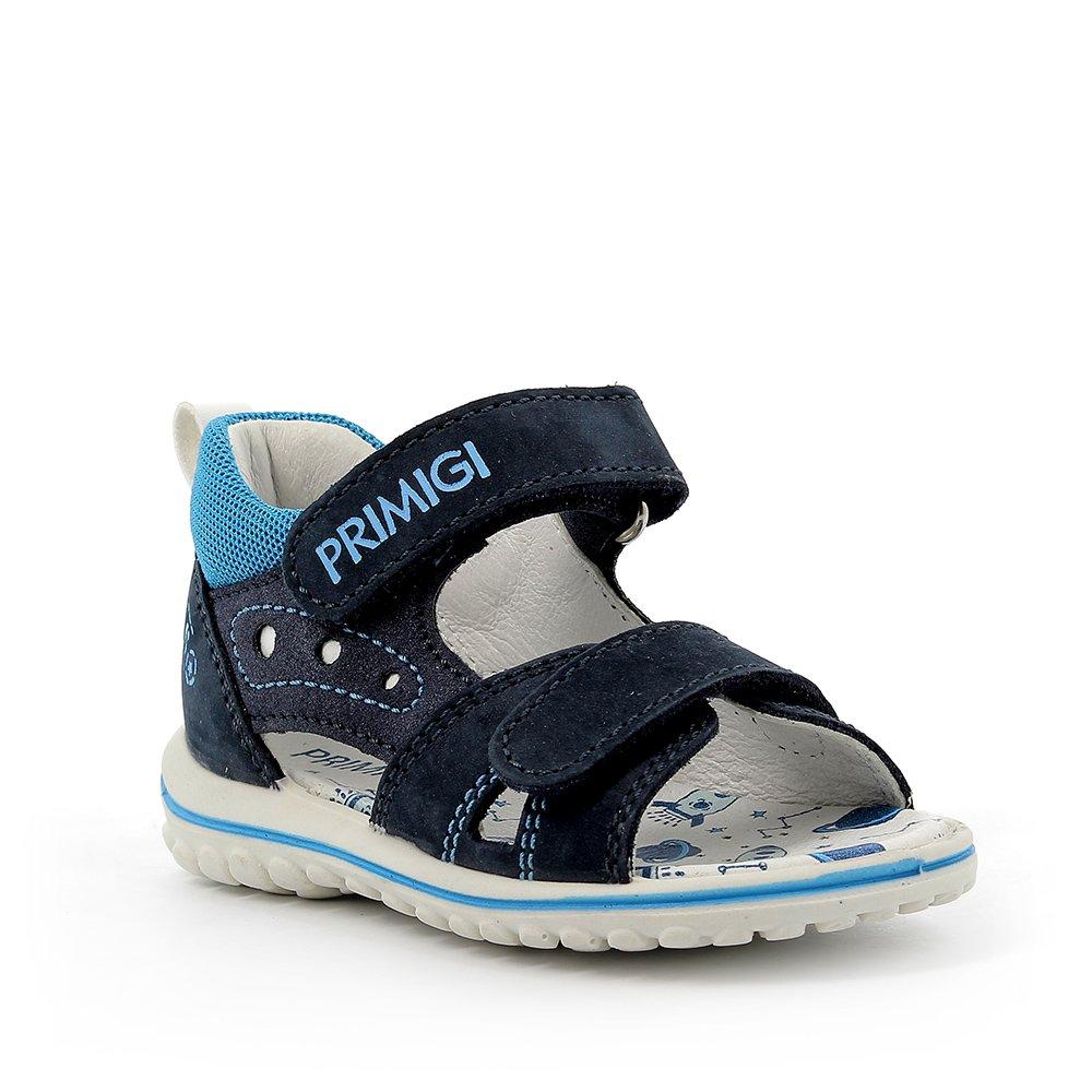 Sandalo in pelle azzurro