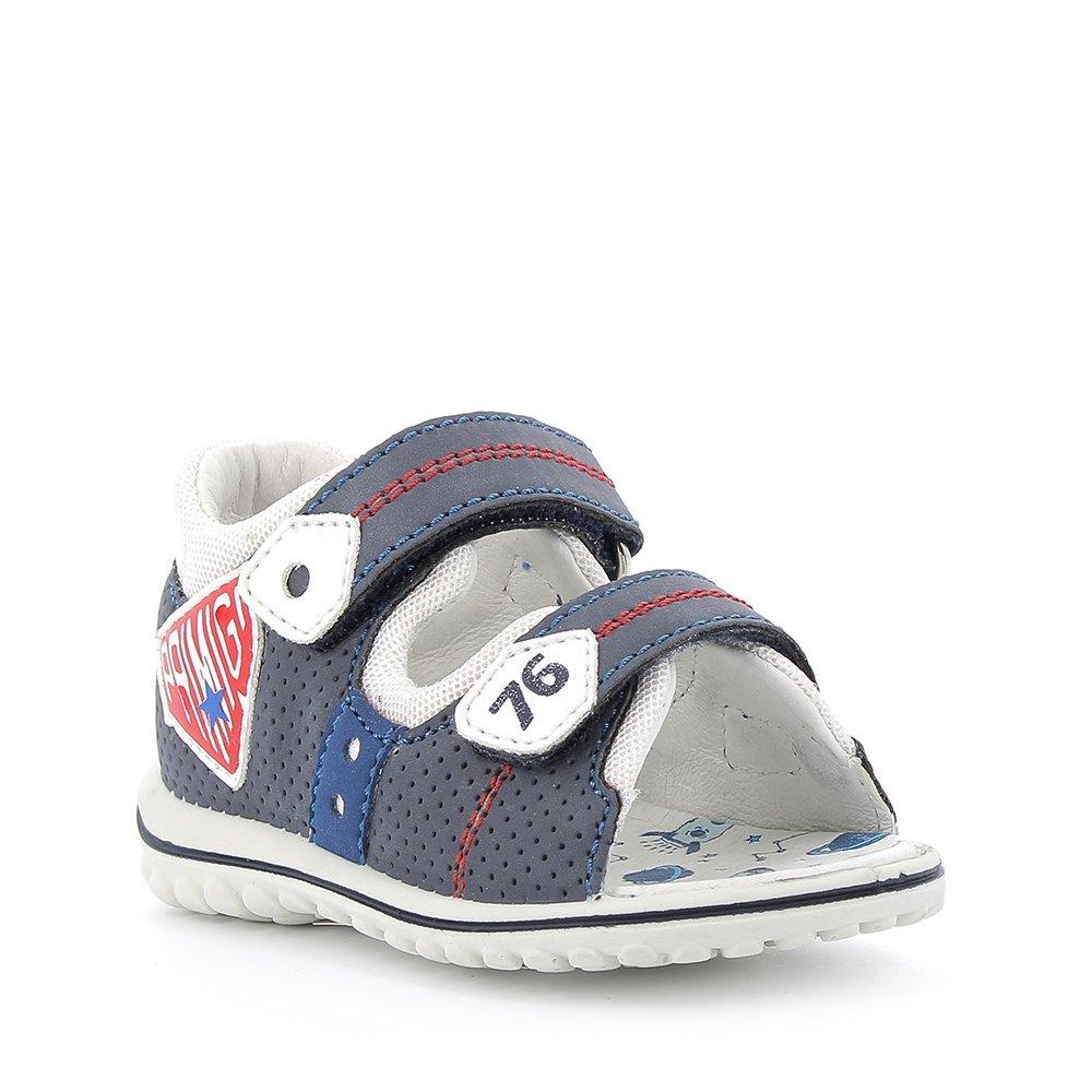 Sandalo in pelle sintetica bianco