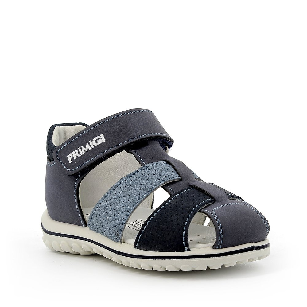 Sandalo in pelle sintetica blu