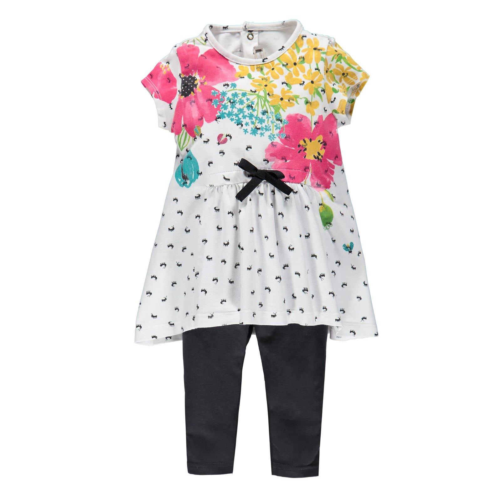 Completo neonata top stampato + leggings